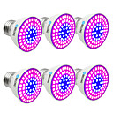 זול LED Grow Lights-BRELONG® 6pcs 6W 300lm E14 GU10 MR16 E26 / E27 גידול נורה 72 LED חרוזים SMD 2835 כחול 220-240V
