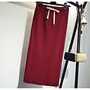 ieftine Broșe la Modă-Pentru femei Mărime Plus Size Bodycon Ieșire Bumbac Fuste - Mată Crăpătură Talie Înaltă