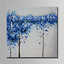 cheap Abstract Paintings-Oil Painting Hand Painted - Abstract / Landscape Modern Rolled Canvas