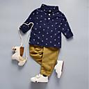 זול סטים של ביגוד לבנים-סט של בגדים כותנה שרוול ארוך דפוס אחיד / גלקסיה / דפוס ליציאה בסיסי בנים פעוטות / חמוד