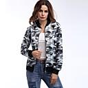 baratos Acessórios de Cabelo-Mulheres Jaqueta Reativo camuflagem Estampado