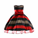 cheap Girls' Dresses-Girls' Cute Casual Striped Sleeveless Cotton Dress
