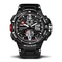 cheap Men's Bracelets-Men's / Women's Casual Watch / Sport Watch Japanese Calendar / date / day / Water Resistant / Water Proof / Dual Time Zones Rubber Band Luxury Black / Stopwatch