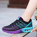 cheap Men's Athletic Shoes-Women's Shoes PU Spring Fall Comfort Athletic Shoes Flat Heel Round Toe Lace-up for Outdoor Purple Pink Red and White