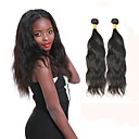 cheap One Pack Hair-2 Bundles Indian Hair Natural Wave Remy Human Hair Natural Color Hair Weaves / Hair Bulk Human Hair Weaves Human Hair Extensions