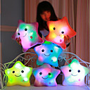 cheap Dolls Accessories-Luminous pillow Led Light Pillow Start Shape Romance Stuffed Animal Plush Toy Lovely / Comfy Gift