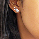 cheap Earrings-Women's Stud Earrings - Heart, Heart Rate Fashion Gold / Silver / Rose Gold For Formal Work