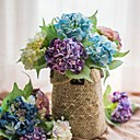 זול פרחים מלאכותיים-פרחים מלאכותיים 1 ענף כפרי / פרחי חתונה הורטנזיות פרחים לשולחן