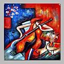 tanie Pejzaże-Hang-Malowane obraz olejny Ręcznie malowane - Abstrakcja Nowoczesny Brezentowy / Rozciągnięte płótno