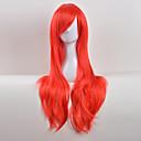 tanie Akcesoria do włosów-Peruki syntetyczne Curly Fryzura asymetryczna / Z grzywką Włosie synetyczne Naturalna linia włosów Czerwony Peruka Damskie Długie Bez czepka Niebieski