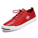 זול סניקרס לגברים-בגדי ריקוד גברים גומי אביב / סתיו נוחות נעלי ספורט לבן / שחור / אדום