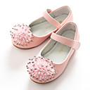 זול נעלי ילדות-בנות נעליים דמוי עור אביב בלרינה / נעליים לילדת הפרחים שטוחות פאייטים / סקוטש ל לבן / ורוד
