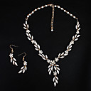 זול סטים של תכשיטים-בגדי ריקוד נשים קריסטל סט תכשיטים - פנינה ארופאי, אופנתי לִכלוֹל זהב עבור חתונה יומי
