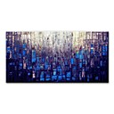 billige Sykkelbudvesker,Ryggsekker & Magetasker-styledecor® moderne håndmalt blå abstrakt fargeblokk lerret oljemaleri for veggkunst på innpakket lerret