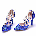 cheap Wedding Wraps-Women's Shoes Sparkling Glitter Spring / Fall Comfort / Basic Pump Heels Stiletto Heel Gold / Royal Blue