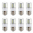 abordables Ampoules Maïs LED-BRELONG® 8pcs 3W 270lm E14 E26 / E27 Ampoules Maïs LED 24 Perles LED SMD 5730 Blanc Chaud Blanc 220-240V