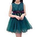 tanie Sukienki dla dziewczynek-Dzieci Dla dziewczynek Prosty / Aktywny Wyjściowe Solidne kolory / Kwiaty Długi rękaw Sukienka
