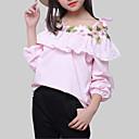 ieftine Accesorii de Barbie-Fete Bluză Floral Celofibră Zilnic Primăvară Toamnă Manșon Lung Casual Alb Roz Îmbujorat