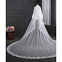 cheap Wedding Veils-Two-tier Double Layered Wedding Veil Cathedral Veils 53 Embroidery Tulle