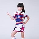 abordables Ropa de Baile para Niños-Vestidos de Cheerleader Accesorios Entrenamiento / Rendimiento Licra Diseño / Estampado Manga Corta Cintura Baja Faldas / Top