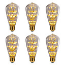 cheap Wedding Gifts-BRELONG® 6pcs 3W 300lm E26 / E27 LED Globe Bulbs 47 LED Beads SMD Starry Decorative Yellow 220-240V