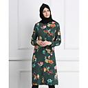 זול אוברולים טריים לתינוקות-עד הברך דפוס, פרחוני - שמלה עבאיה / כפתן מתוחכם בגדי ריקוד נשים / אביב
