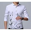 cheap Men's Slippers & Flip-Flops-Men's Street chic Shirt - Geometric Basic / Long Sleeve