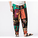 cheap Men's Slippers & Flip-Flops-Men's Boho Chinos Pants - Floral