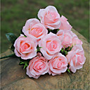 cheap Artificial Flower-Artificial Flowers 1 Branch European Style / Pastoral Style Roses Tabletop Flower