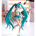 billige Anime actionfigurer-Anime Action Figurer Inspirert av Vokaloid Snø Miku 2018 PVC CM Modell Leker Dukke Herre Dame