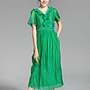 cheap Dance Boots-PROVERB Women's Vintage A Line Dress - Solid Colored, Pleated