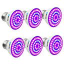 billige LED smartpærer-BRELONG® 6pcs 7W 300lm E14 GU10 MR16 E26 / E27 Voksende lyspære 54 LED perler SMD 2835 Blå 220-240V