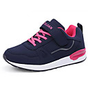cheap Women's Athletic Shoes-Women's Shoes Leather Spring / Fall Comfort Athletic Shoes Walking Shoes Flat Heel Dark Blue / Burgundy