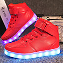ieftine Pantofi Fetițe-Băieți / Fete Pantofi PU Toamnă Confortabili / Pantofi Usori Adidași Dantelă / Cârlig & Buclă / LED pentru Rosu / Albastru / Roz