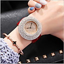 cheap Bracelet Watches-Women's Quartz Pave Watch Casual Watch Genuine Leather Band Casual Fashion Black White Red Brown Rose