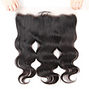 cheap Human Hair Wigs-Guanyuwigs Brazilian Hair 4x13 Closure Wavy Free Part / Middle Part / 3 Part Swiss Lace Human Hair Women's With Baby Hair / Soft / Silky Party Evening / Dailywear / Daily Wear