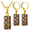 cheap Earrings-Women's Cubic Zirconia Jewelry Set - Zircon Fashion Include Hoop Earrings Pendant Necklace Gold / Silver For Daily