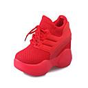 זול נעלי עקב לנשים-בגדי ריקוד נשים טול אביב נוחות נעלי ספורט שטוח בוהן עגולה שחור / אדום