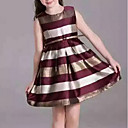 cheap Girls' Dresses-Kids Girls' Stripes Striped Sleeveless Dress