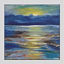 tanie Modne kolczyki-Hang-Malowane obraz olejny Ręcznie malowane - Abstrakcja Nowoczesny Brezentowy / Rozciągnięte płótno
