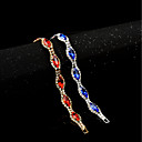 cheap Necklaces-Women's Cubic Zirconia / Synthetic Sapphire / Synthetic Ruby Chain Bracelet - Zircon Classic, Vintage, Elegant Bracelet Red / Blue For Wedding / Evening Party