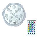 olcso Reflektorok-BRELONG® 1db 3 W Vízalatti világítás Vízálló / Távvezérelt / Dekoratív RGB 5.5 V Úszómedence 12 LED gyöngyök