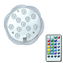 abordables Lámparas de Noche-brelong® 1pc 3w 12leds luces subacuáticas control remoto impermeable piscina decorativa rgb 5.5v