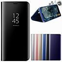 billige Interne Harddisk-Etui Til Huawei P20 / P20 Pro Med stativ / Spejl Fuldt etui Ensfarvet Hårdt PU Læder for Huawei P20 / Huawei P20 Pro / Huawei P20 lite