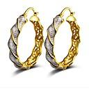 זול עגילים אופנתיים-בגדי ריקוד נשים טבעות חישוקים - אופנתי זהב עבור Party יומי