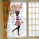 cheap Window Film & Stickers-3D Print Contemporary Window Sticker Matte, PVC/Vinyl Material Window Decoration Hall Living Room