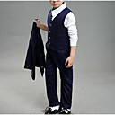 זול סטים של ביגוד לבנים-סט של בגדים כותנה שרוול ארוך דפוס אחיד / משובץ בית הספר יום יומי / סגנון רחוב בנים ילדים