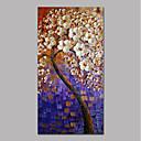 ieftine Picturi în Ulei-Hang-pictate pictură în ulei Pictat manual - Abstract Floral / Botanic Contemporan Modern pânză