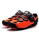 abordables Zapatos de Ciclismo-Tiebao® Calzado para Bicicleta de Carretera Fibra de Carbono A prueba de resbalones, Listo para vestir, Transpirabilidad Ciclismo Negro / naranja Hombre