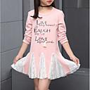 abordables Tops para Niña-Niños Chica Estampado Manga Larga Algodón Camiseta